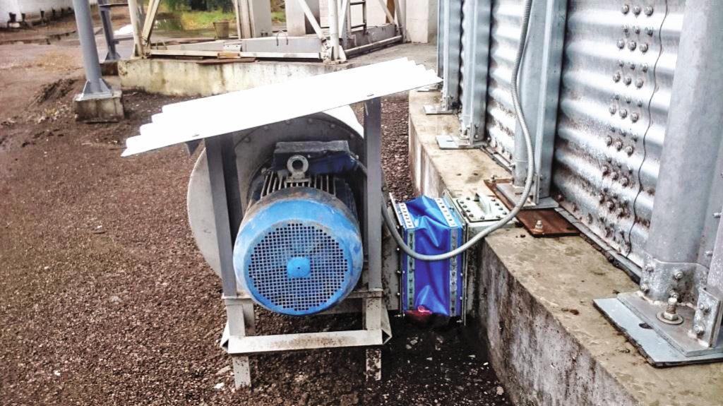 Работа вентилятора для принудительной вентиляции