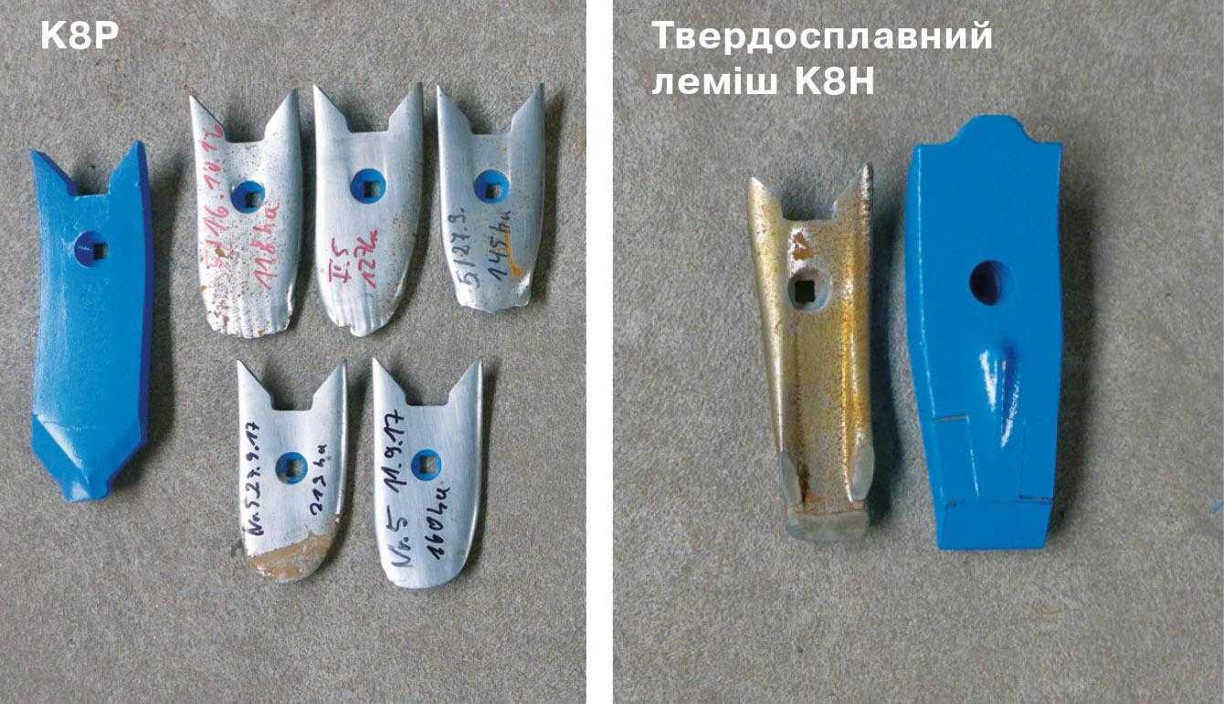 Термін служби. у 8–10 разів довше порівняно зі сталевими інструментами та у 4–5 разів довше порівняно з K8P