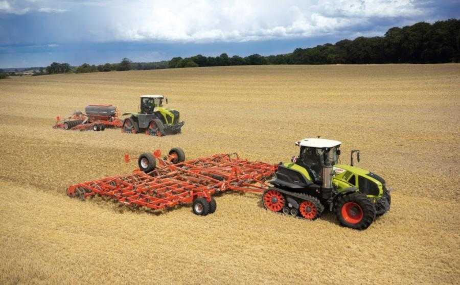 Трактори з гусеничним рушієм: AXION 900 TERRA TRAC і XERION 5000