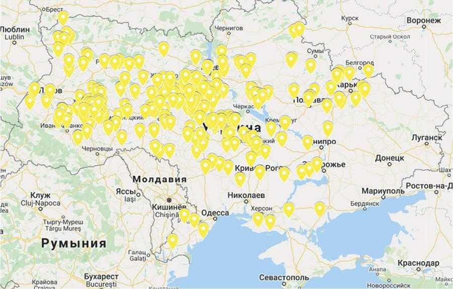 Географія працюючих компакторів Swifter в Україні