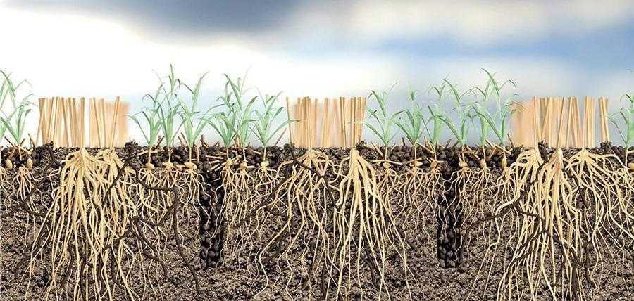 Перевагою Opti-till є те, що природна структура ґрунту при обробітку неруйнується, тому його щільність залишається незмінною
