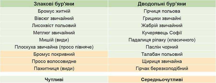 Спектр дії гербіциду Еверест
