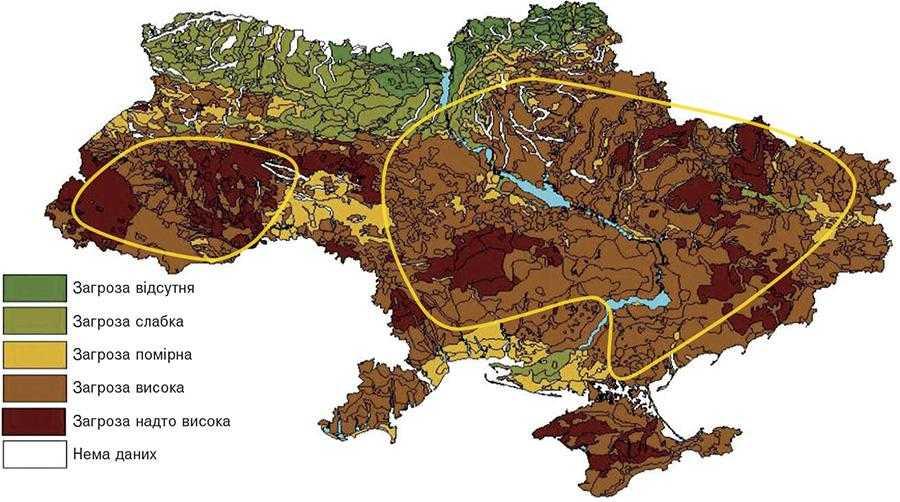 Синтезована карта прогнозу переущільнення ґрунтів