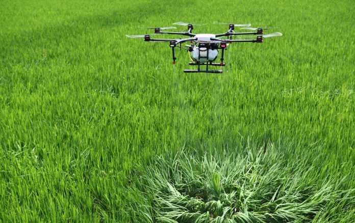 використання дронів для проведення позакореневого підживлення