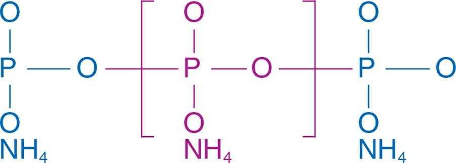 Рис. 1. Полімерний ланцюг поліфосфату амонію