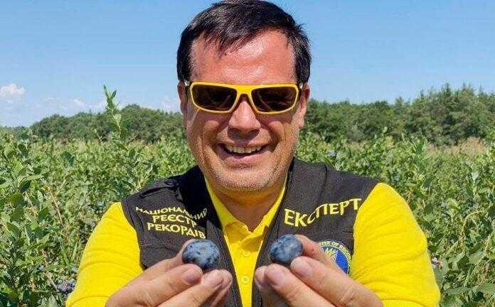 Ягоди лохини, які вирощують на Київщині, потрапили до Книги рекордів України